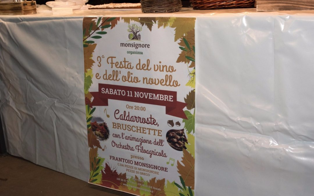 3^ Festa del vino e dell'olio novello