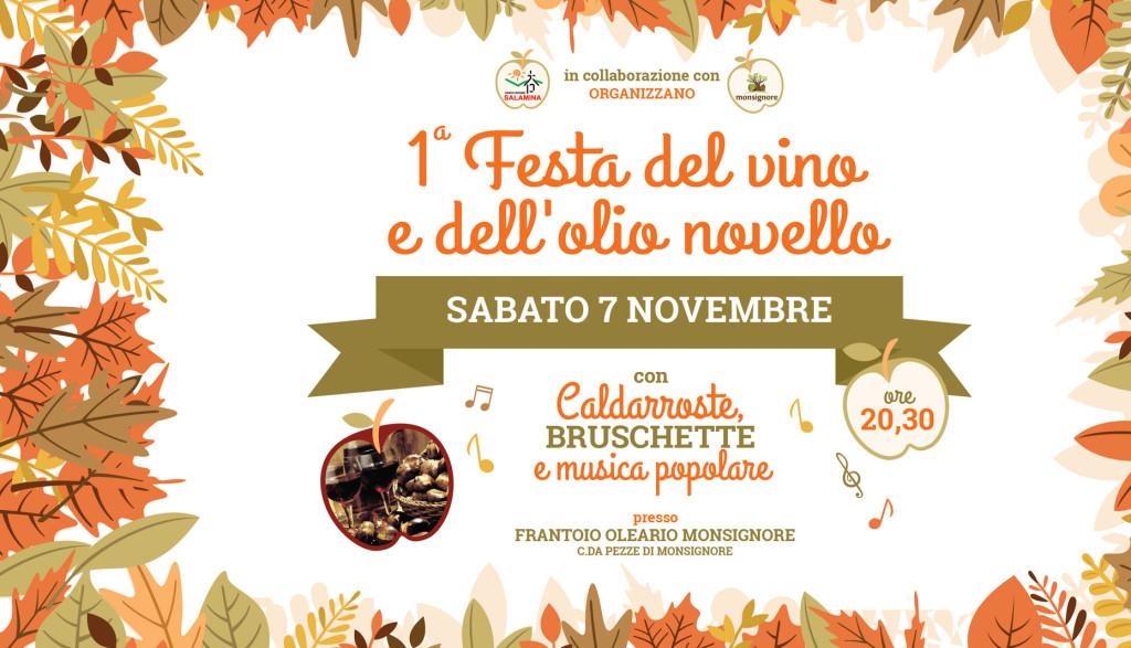 1^ Festa del vino e dell'olio novello